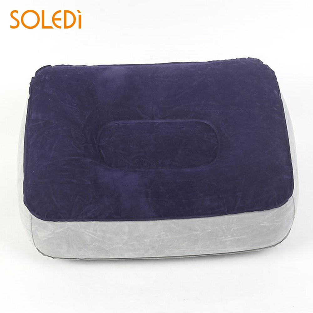 Pillow Cushion Travel PVC Flocking Portable Inflatable Foot Pillow Home Relaxing Feet Tool Comfortable Inflatable Foot Pillowt