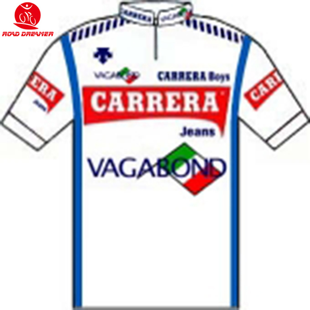 Tour de France 1986 Carrera Team Retro style cycling jersey summer Short  sleeved clothes Breathable Bicycle sweater a31f88e5e