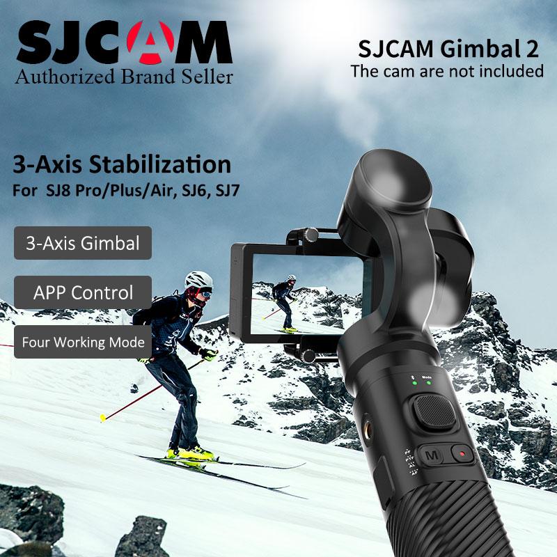 Genuine Original SJCAM Handheld 3 Axis Stabilizer Gimbal SJ-Gimbal for SJ8 air plus pro SJ6 Legend SJ7 Star Accessories cam original sjcam sj8 pro 4k eis stabilization sport wifi cam sjcam sj8 pro sj7 star handheld gimbal sj gimbal 2 3 axis stabilizer