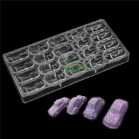 4 Kinds Of Car Shape Hard PC Polycarbonate Chocolate Mold DIY Candy Fondant Mould Tools