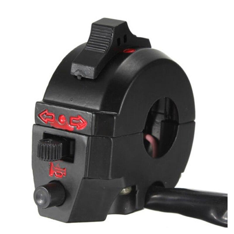 CNIM Hot 7/8 Motorcycle Handlebar Switch Control High/Low Beam Turn Signal Horn Left Black motorcycle handlebar switch high quality