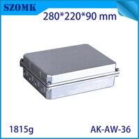 Caixa de Junção À Prova D' Água para a Eletrônica de alumínio Fundido Projeto da Placa PCB Diy Instrumento Caso Do Projeto Gabinete para Uso Ao Ar Livre|Conectores|   -