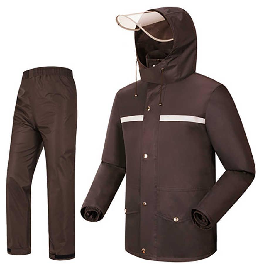 Камуфляжный походный мотоциклетный плащ Мужская куртка уличная Водонепроницаемая дождевик костюм Casaco Masculino Regenjas R5C145