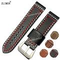ZLIMSN 24mm Watch BAND Strap Manual Genuine Leather Watchbands MenS Belt Vogue Thicken Metal Buckle Relojes Hombre 2016
