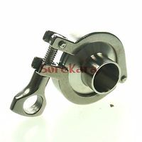 A Set 102mm Sanitary Tri Clamp Weld Ferrule Tri Clamp Silicon Gasket End Cap 304 Stainless