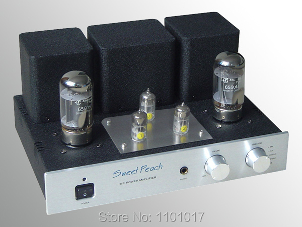 US $307 71 10% OFF|XiangSheng Sweet Peach SP 6550 Tube Amplifier HIFI  EXQUIS 6550 Signal ended MM Phono Headphone USB Decoder amp XSSP6550-in