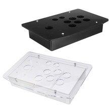 Reemplazo de la caja del Panel de acrílico 5mm DIY claro negro Arcade Joystick Handle Arcade juego robusto construcción fácil de instalar