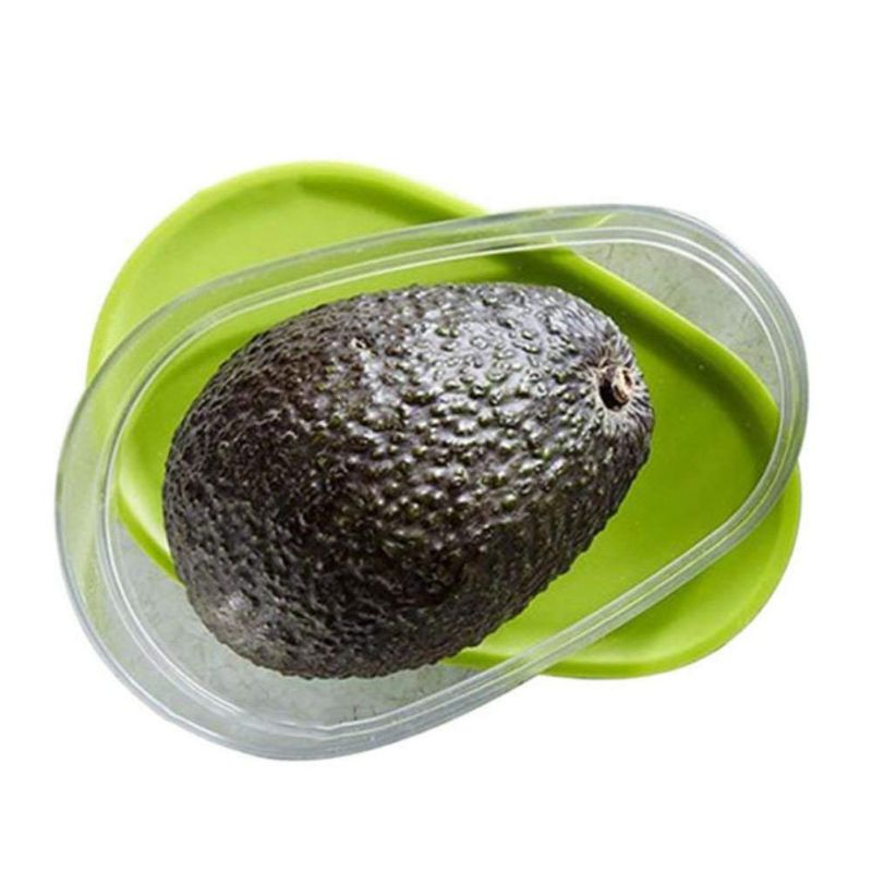 Mini Fruits and Vegetable Fresh-keeping Box for Avocado Plastic Avocado Storage Container Keep Fresh Kitchen Fruit Accessories