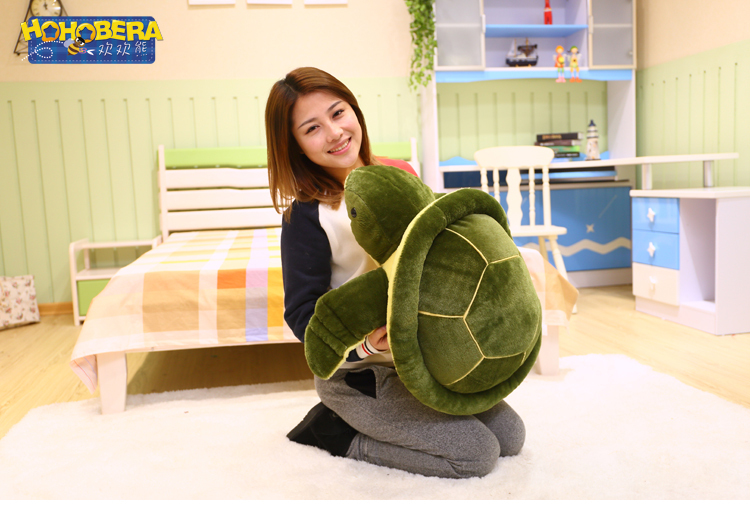 new middle plush creative green turtle toy new sea turtle toy gift doll about 55cm 0203