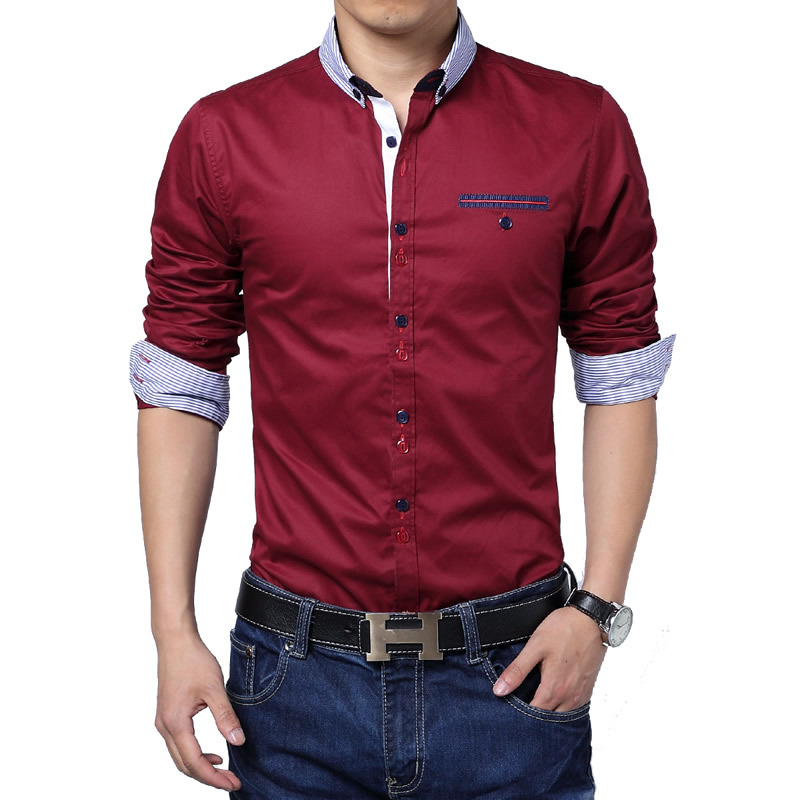 Man Spring 2014 Hot Sale Free Shipping New Mens Shirts Casual 5xl Plus Size Men Clothing Camisas Masculinas