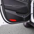 Filber carbono estilo do carro porta protetor porta sujo adesivo 4 pcs para Hyundai Ix45 Santafe acessórios 2013 2014 2015 2016