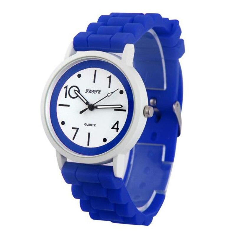 Fashion Women Silicone Rubber Jelly Gel Quartz Casual Sports Wrist Watch Causal Gift Watch Female Causal Clock Relogio Feminino