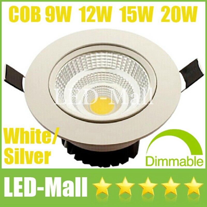 Топ продавец удара 9 Вт 12 Вт 15 Вт 20 Вт затемнения светодиодный светильники CRI> 88 поворотный светильник кабинет встраиваемые потолка вниз огне...