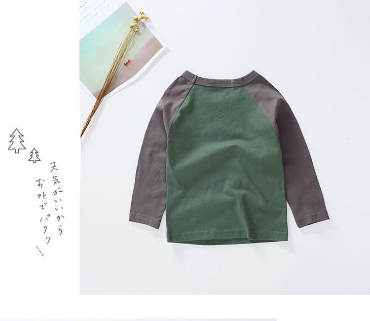 New Spring Boys Girls Cartoon Cotton T Shirts Children Tees Boy Girl Long Sleeve T Shirts Kids Tops Brand Baby Clothes 12M-8Y 11