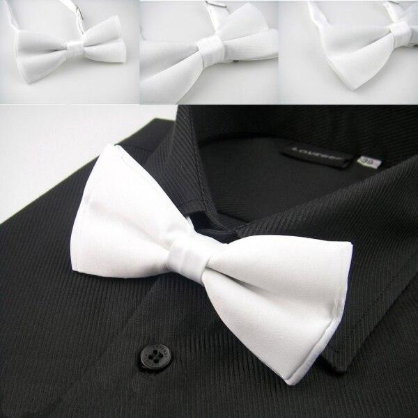 Herren-krawatten & Taschentücher Lh-003 Fliege Geschenk Box Weiß Solide Plain Männer Smoking Einstellbare Silk Bowtie Für Männer Formale Hochzeit Bräutigam Freies Verschiffen Und Ein Langes Leben Haben.