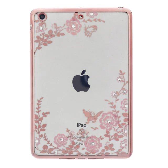For Funda iPad Mini TPU Case Flower Transpatent Clear Soft TPU Gel Silicone Case Cover for Apple Ipad Mini 3 2 1 7.9