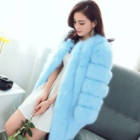 Women Fur Coat Winter Long Faux Fur Coats Furry Luxury Female Fake Fur Jacket Ladies High Quality Faux Fur Coat Jacket