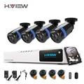 8-КАНАЛЬНЫЙ CCTV Камеры Безопасности Система DVR HDMI 1080 P NVR Системы ВИДЕОНАБЛЮДЕНИЯ 4 ШТ. ИК Открытый видеонаблюдения Комплект Камеры С 1 Т Диск