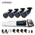 8CH CCTV Sistema de Cámaras de Seguridad DVR HDMI 1080 P NVR Sistema CCTV 4 UNIDS IR Cámara de Vigilancia de vídeo Al Aire Libre Conjunto Con 1 T Disco