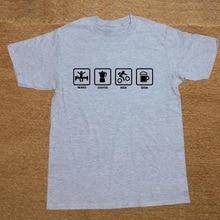 """Wake – Coffee – Ride – Beer"" men's t-shirt"