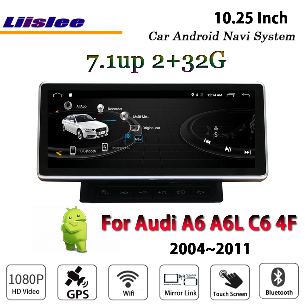 Liislee Car Android 2G RAM 32ROM For Audi A6 A6L Q7 4F 2004 2011 Radio Video
