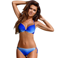 Gradient Spaghetti Strap Diamond Women S Bikinis Sets Push Up Sexy Backless Bathing Suit 2015 High