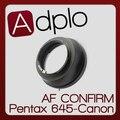ª ajustável af confirmar adapter terno para pentax 645 pk645 lens para canon e0s ef 60d 50d 7d 5d 500d 550d 60da câmera