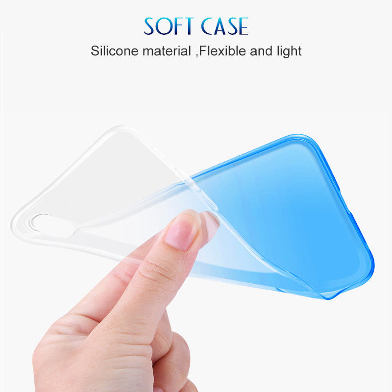 Gradient Soft Clear Phone Case For iPhone X XS Max XR Ultra Thin Transparent TPU Silicone Cover Case for iPhone 6 6S 7 8 Plus