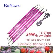 ReBlue Wachsen Licht Phyto Lampe 24W Pflanze Licht Wachsen Led Für Pflanzen Led Wachsen Licht Voll Spektrum Wachsenden Lampe 110V 220V Led Wachsen