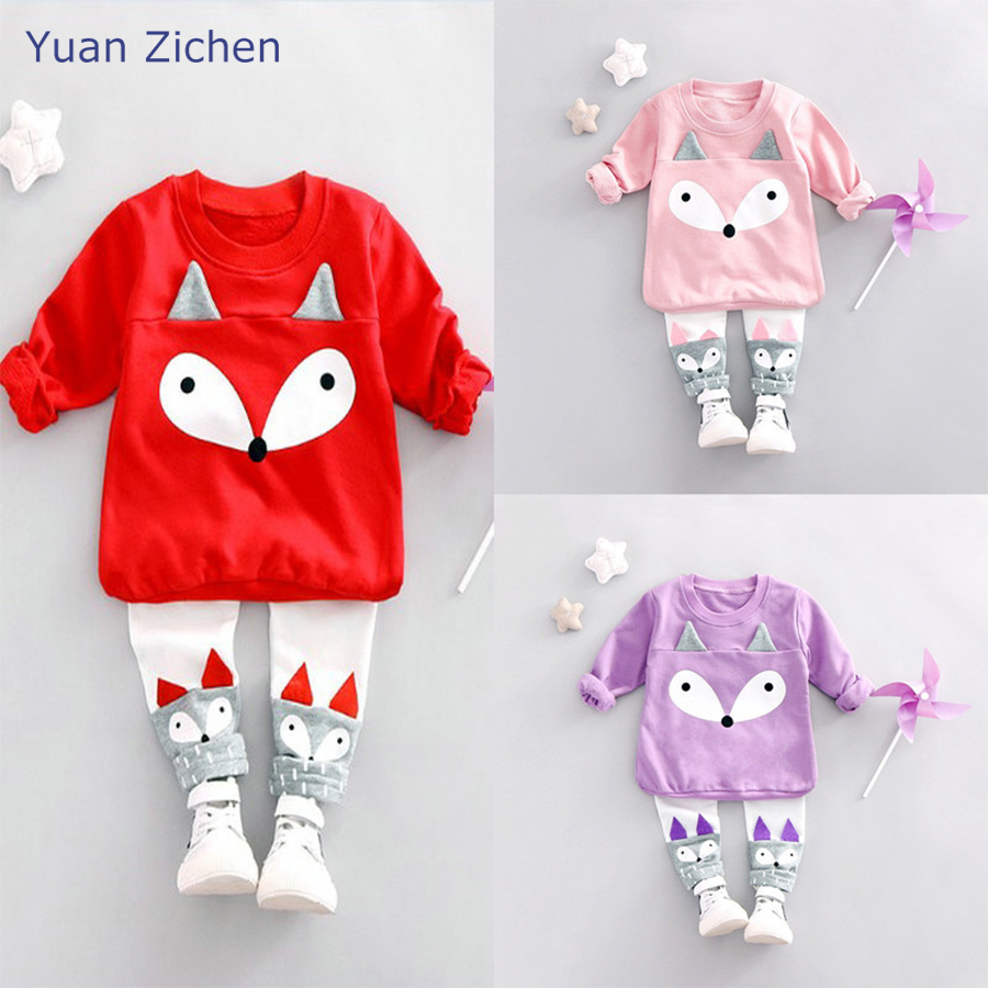 Winter Autumn Kid Clothes Baby Girl Clothing Sets Cartoon Overalls Children'S Kit On Pants 2Pcs For Baby Girl Clothes Set fashion brand autumn children girl clothes toddler girl clothing sets cute cat long sleeve tshirt and overalls kid girl clothes