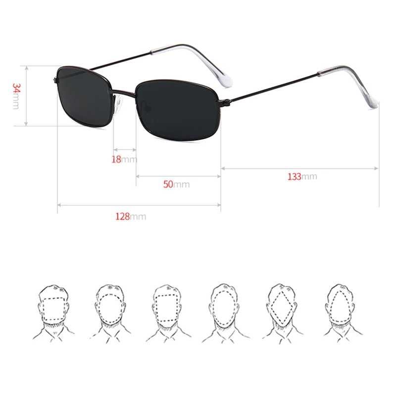 Женские металлические мужские солнцезащитные очки, Ретро стиль, маленькие квадратные солнцезащитные очки, женские желтые розовые линзы, очки с небольшой оправой, очки