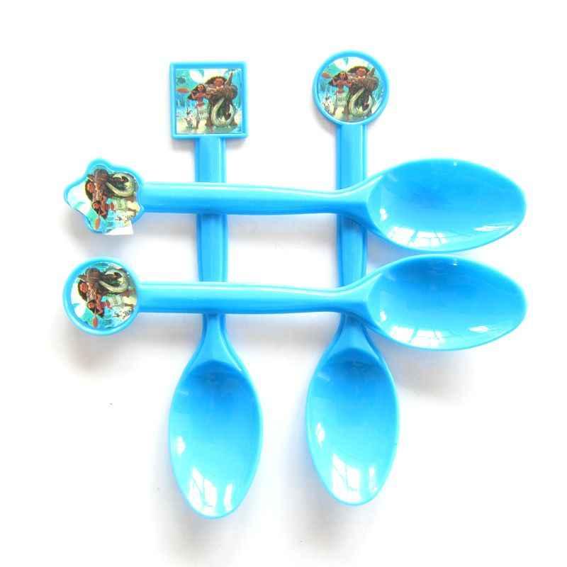การ์ตูน Moana Theme ทิ้งพลาสติกช้อนมีด Forks สำหรับอาบน้ำเด็กเด็กวันเกิดเทศกาล Party อุปกรณ์ตกแต่ง