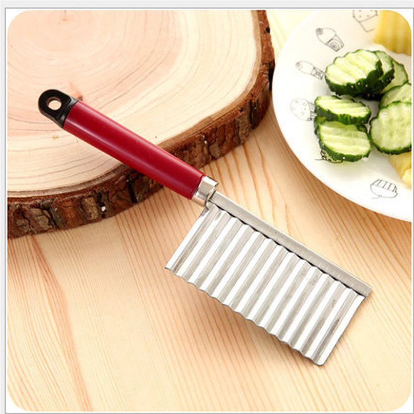 Potato Wavy Edged Tool Stainless Steel Kitchen Gadget Vegetable Fruit Cutting #3d07 (2)