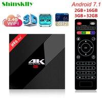 Shinsklly H96 Pro Android 7 1 TV BOX Amlogic S912 Octa Core 2 3G ROM 16G