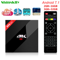 Shinsklly H96 Pro Android 7 1 TV BOX Amlogic S912 Octa Core 2 3G ROM 16G