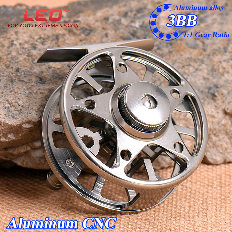 Aluminium CNC Large Arbor Lure Fly Fishing Reel Cut Left Right Coil Die Casting Fly Reel