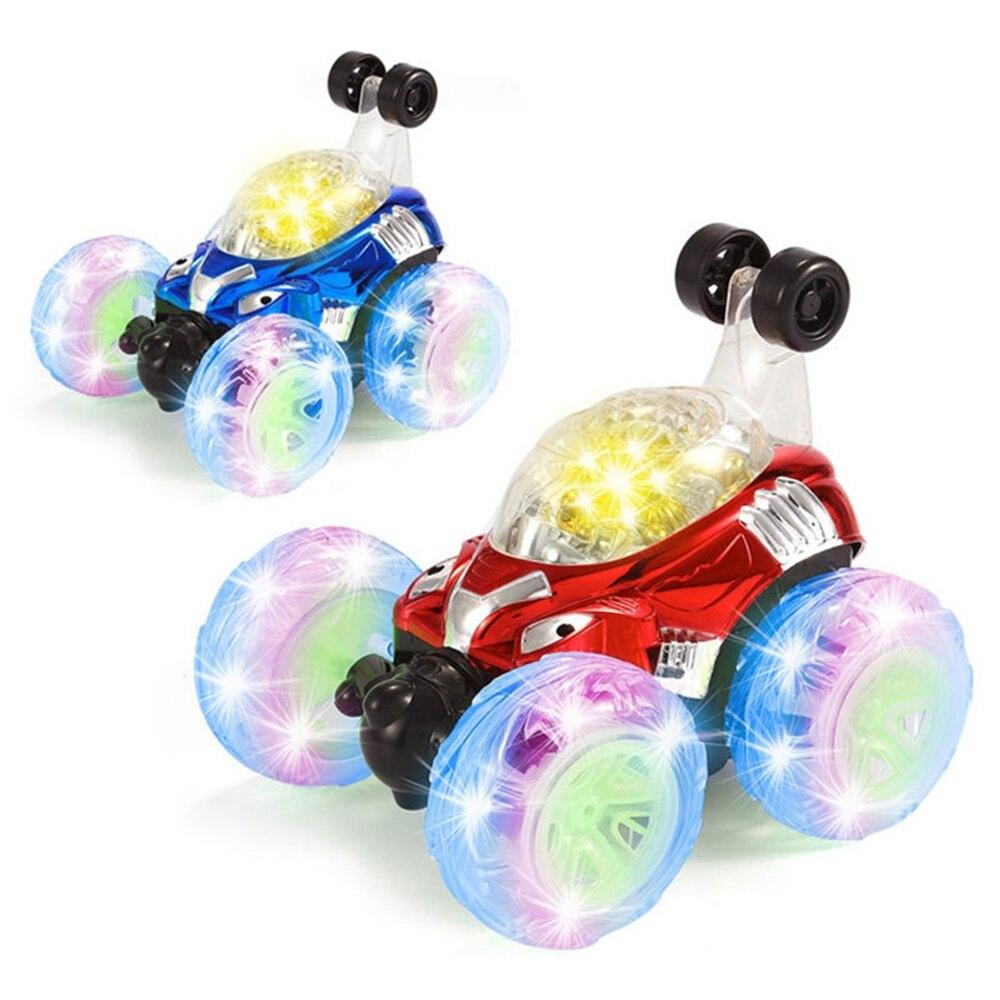 Childrens Large Remote Control Toys Car Flip Stunt Car Remote Dump Truck Buckle Electric Drive Trolley