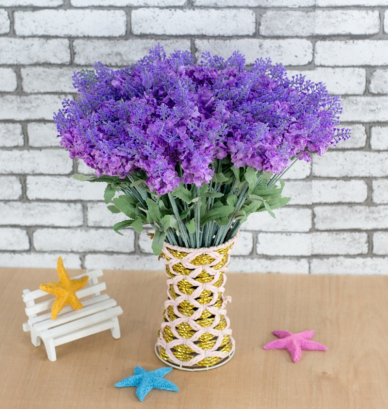 Lavender Artificial Flower Branch For Birthday Wedding Party Decoration  Craft DIY Favor Baby Shower Etc(