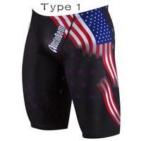Men Swimwear Swimming Trunks Breathable Swimming Shorts Stretchy Swim Beach Shorts Swimsuit Board Shorts Sports Trunks Type 1