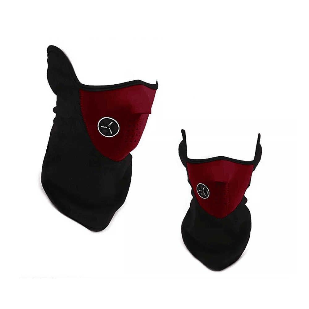 Motocicleta meia máscara facial capa ciclismo equitação snowboard esqui esportes ao ar livre à prova de vento quente inverno pescoço máscara facial