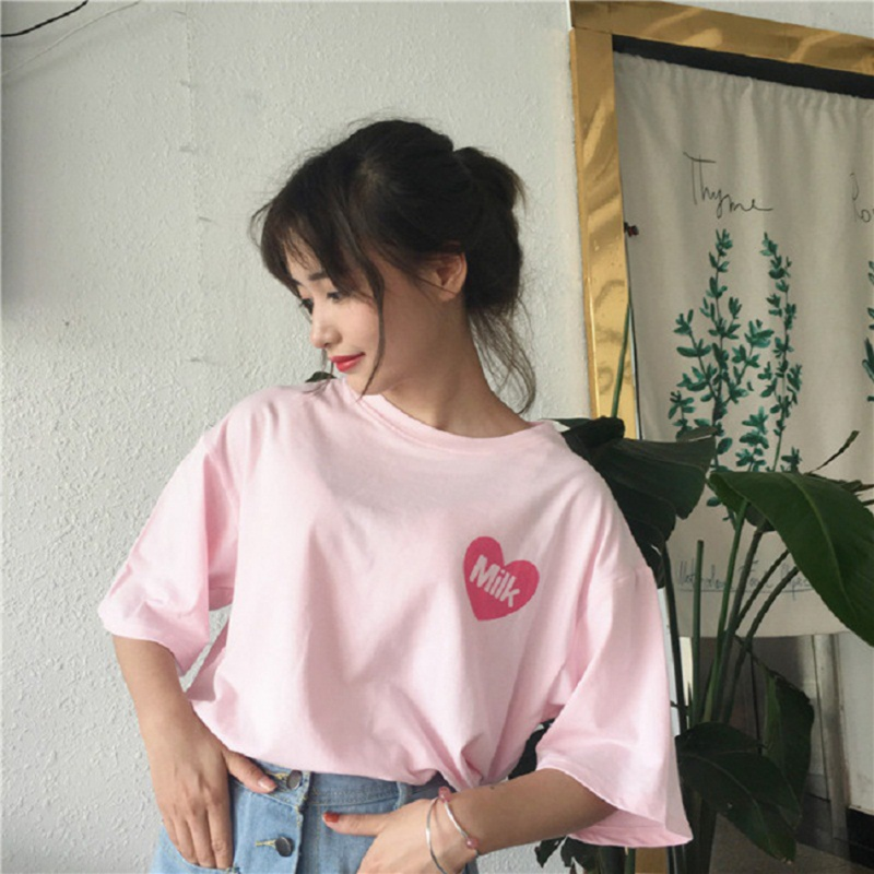 2018 Fashion Women Printed T Shirt Loose Summer Casual Tops Short Sleeve Women Tshirts
