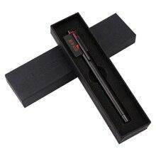 Klasik siyah dolma mürekkep kalemler EF uç pürüzsüz yazı Metal iş ofis kalemler ile orijinal hediye kutusu okul malzemeleri