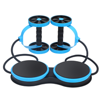 Multifunctional Muscle Exercise Equipment Home Fitness Gym Double Wheel Abdominal Waist Training Ab Roller
