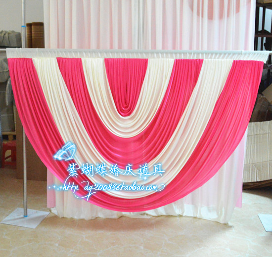 High quality ice silk wedding drape swag backdrop/curtain for wedding party banquet decoration