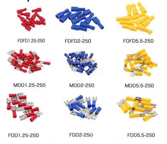 Female male Insulated Spade joint Connector Crimp Terminal Connectors Cable Wire Connector 10PCS 4pin tc03 10pcs 2edgk 5 08mm 508 terminal wire connectors 2edgk 5 08 4
