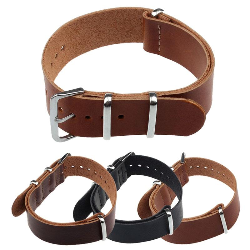 Watchband 20mm Fashion Concise PU Leather Wrist Watch Band Strap Pin Buckle Watchband drop shipping