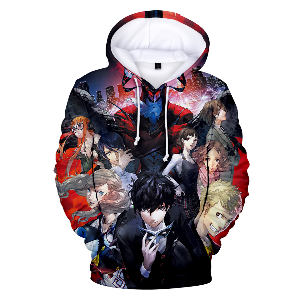 PERSONA Hoodies hot game 3D Men's Sweatshirt 2019 Autumn Winter New Tops Men/Women Hooded High Quality Man Hoodies image