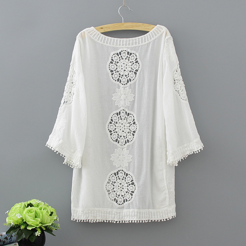 Aliexpress.com: Comprar Kimono cardigan mujeres crochet Encaje ...