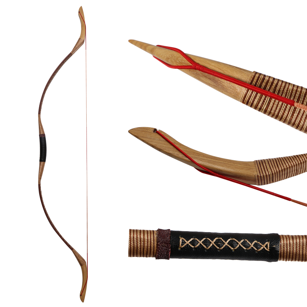 Toparchery Hunting Bows 30 55lbs Traditional Horse Bow Target Shooting Longbow for Outdoor Sports