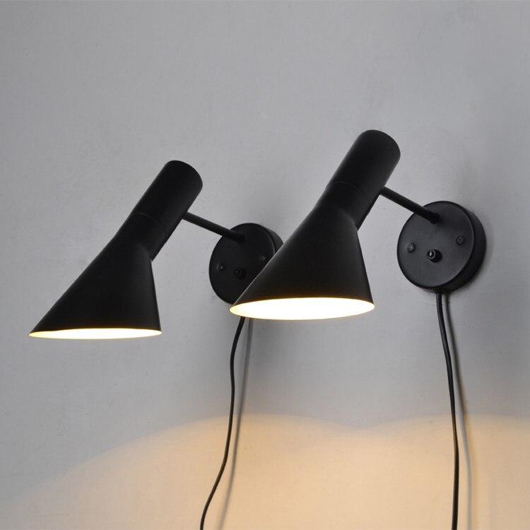 Applique moderne luminaire mural chevet liseuse Arne Jacobsen applique murale créative AJ lampe murale éclairage domestique